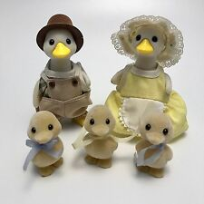 Vintage Sylvanian Families Tomy Puddleford Duck Family RARE & Highly Collectible