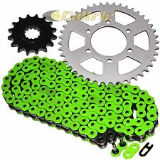 Green O-Ring Drive Chain & Sprockets Kit Fits KAWASAKI ZX-6R Ninja ZX636 05 06