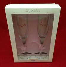 ME TO YOU TATTY TEDDY CONGRATULATIONS BRIDE GROOM CHAMPAGNE FLUTES WEDDING GIFT
