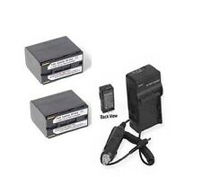 TWO Batteries + Charger for Canon XH-G1 XH-G1S XL-H1 XL-H1A XL-H1S DM-XM2 DM-XL2