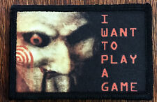 Jigsaw I Want to play a game Morale Patch Tactical Military Army Flag Saw Movie
