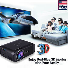 7000 Lumens HD Home Theater Multimedia LED Video Projector 1080P 3D HDMI TV VGA
