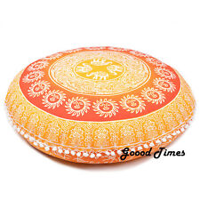 Yellow Bohemian Decorative Floor Pillow Cushion Cover Mandala- 32""