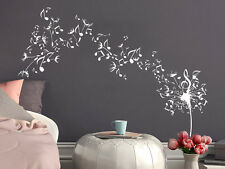 Dandelion Wall Decals Flower Music Musical Notes Vinyl Sticker Bedroom NV174