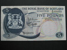 The Royal Bank of Scotland £5 note 19/03/69 A/12 358375
