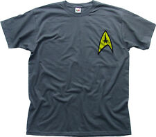 Star Trek Command Insignia Patch movie fancy dress charcoal cotton t-shirt 01075