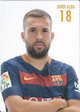 Postal postcard 18 JORDI ALBA  jug.  FC BARCELONA 15/16