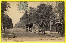 cpa 92 - NEUILLY sur SEINE (Saint James) Boulevard MAILLOT Transport HIPPOMOBILE