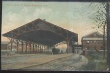 Postcard RICHMOND Indiana/IN  P.C.G. & St Louis Railroad Car Barn Depot 1907