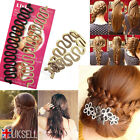 UK French Hair Braiding Tool Roller With Hook Magic Twist Styling Bun Makeup