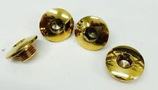 4 HARLEY 24k GOLD PLATED SHOVELHEAD SPORTSTER  ROCKER SHAFT END BOLTS plugs