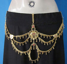 Womens Chain Fringe Belt Egyptian Belly dance Skirt Pants Jewelry Boho Waistband