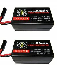 2 x 2000mAh 11.1v LiPo Battery For Parrot AR Drone 2.0 Quadcopter