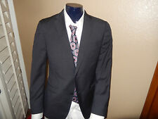 Z ZEGNA 'Drop 8'  Wool 2-BT  Blue Fine Check Suit 42R/W34  EU 52R