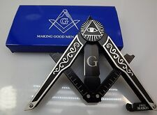 Brand New Masonic Mason Folding Knife Square & Compass Shape Unique Free Mason