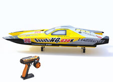 30CC Engine 2.4Ghz Radio Gas RC Racing Speed Boat ARTR Fiber Glass Catamaran