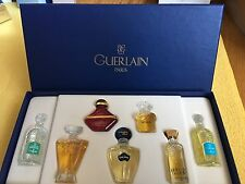 Guerlain Mini Perfumes Vintage - Set Of 7 New In Box . Mini Glass Collectibles