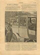 WWI Kaiser Guillaume/Wilhelm II Staff Pickelhaube Belgique War 1914 ILLUSTRATION