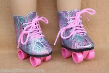 Doll Clothes fitting 18 in American Girl Doll Sparkling Boot Style Roller Skates