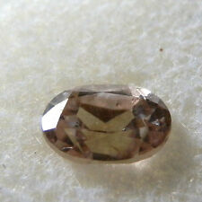 Natural champagne pink zircon...quality gem...1.34 Carat