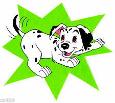 "8"" DISNEY DALMATIANS DOG CHARACTER FABRIC APPLIQUE IRON ON"