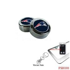 Brand New NFL New England Patriots Chrome License Plate Frame Screw Caps