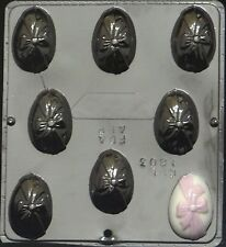 "2 1/2"" Egg with Bow Chocolate Candy Mold Easter  1803 NEW"