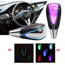 Touch Activated Ultra LED Light Car Gear Shift Knob &Cigarette Lighter Plug #A