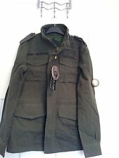 Men's Ringspun Olive Green Army Style Jacket Size S