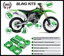 KAWASAKI KX450F 2009-2015 GREEN BLING KIT KX250F 2011-2015  KLX450 2008-2013