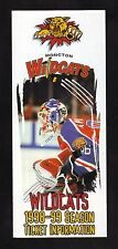 Jean-Francois Damphousse--1998-99 Moncton Wildcats Season Ticket Brochure