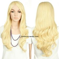 Hair Wig Full Head Wigs Cap Long Wavy Curly Straight Real Thick Brown Blonde USA