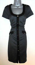 Stunning STAR Julien Macdonald Grey & Black Office Work Smart  Day Dress 12