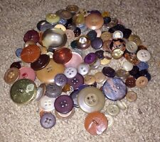 Vintage Buttons Brown Colors Lot 100+ Art BUTTONS Crafts Sewing Button Art