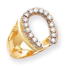 Horseshoe Ring .50 Ct. Diamonds 14K Yellow Gold Polished Horse Shoe Ring Sz 8-12