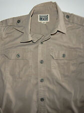 "CONVERSE ""One Star"" Men's Beige 100% Cotton  Long Sleeve  Shirt Size Small"