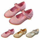 Girls Kids Party Wedding Sandals Pricess Shoe Size Diamante Low Heel MARY STYLE