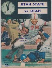 Nov. 21, 1959 Utah State vs. Utah Football Program