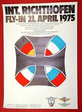 1st International Richthofen Fly-In Airshow 1975 Red Roter Baron Aviation Poster