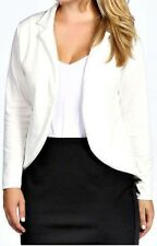 NEW LADIES WOMEN PLUS SIZE ONE BUTTON PONTE JACKET BLAZER  SIZE 16,18,20,22,24