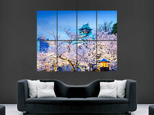 TEMPLE OSAKA JAPAN FLOWERS BLOSSOM  ART WALL LARGE IMAGE GIANT HUGE