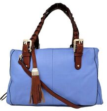 BRAND NEW B. MAKOWSKY E/W SATCHEL LEATHER, CORNFLOWER BLUE, MSRP: $278.00
