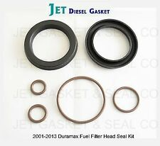 TWIN PACK DURAMAX DELUXE FUEL FILTER HEAD REBUILD SEAL KIT WITH VITON O-RINGS