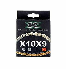 KCNC Road MTB Bike 10 Speed Chains for Shimano Campagnolo Sram 110 Links Gold