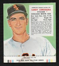 1955 RED MAN TOBACCO #25 SANDY CONSUEGRA  White Sox With Tab