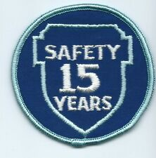Greyhound Bus, driver patch, 15 Safety Years. 3 inch diameter