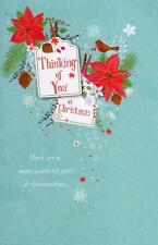 Traditional Thinking Of You At Christmas Greeting Card  Lovely Verse Xmas Cards
