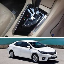 2 x Chrome Gear Shift Plate Cover Decoration Trim Fit for Toyota Corolla 2014