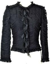 Beutiful Chanel 06A Rare Silk Black Jacket NEW 38 Classic Blazer Coat Blouse Top