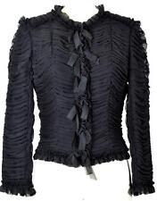 Beutiful Chanel 06A Rare Silk Black Jacket NEW 38 Classic Blazer Coat Blouse Top